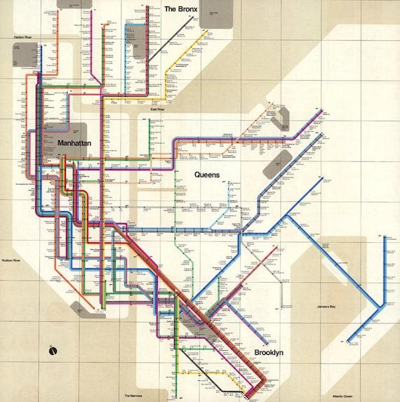 New York Subway Map Jumpers.Antique New York Map Printable Vintage New York Subway Digital Poster New York Digital Print