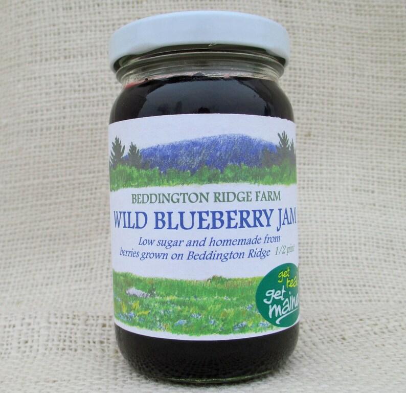 Maine wild blueberry jam/wild blueberry jam/jar of image 0