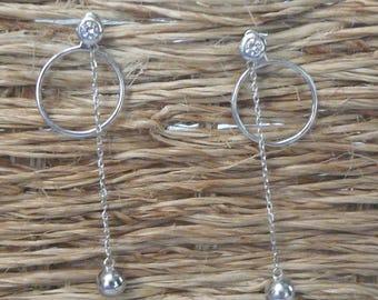 """Precious"" Silver earrings"