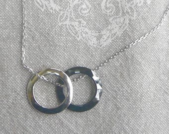 """Silver Choker end """"Duo day and night"""" Valentine's day"""