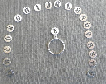 "Silver tassel ring ""Initial"""