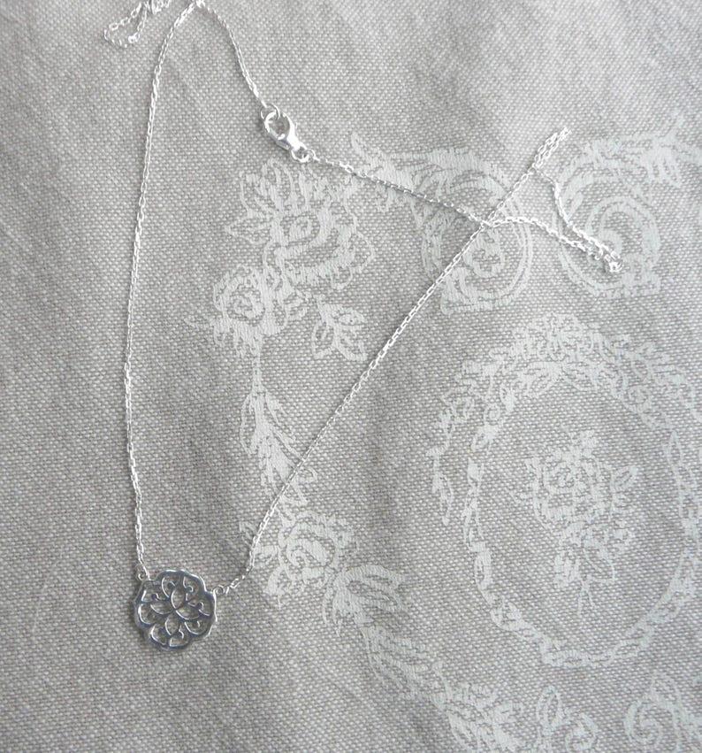 Ras of fine silver neck Rosace