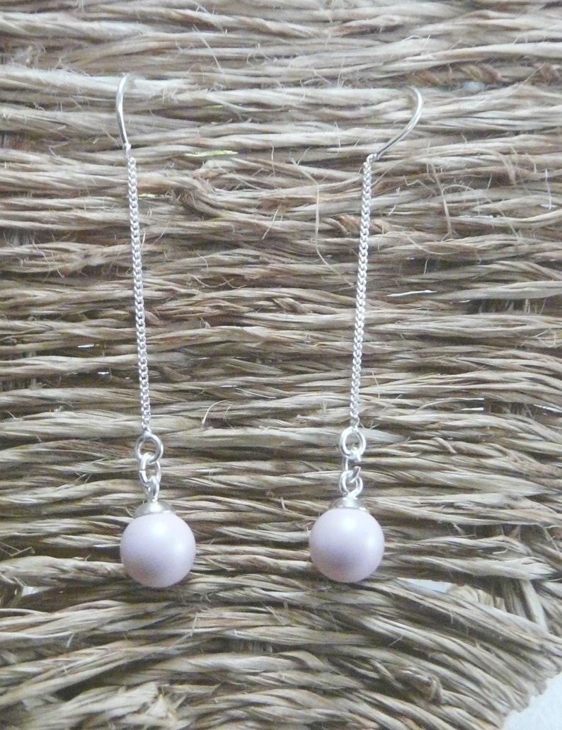 Silver chain loops Pearl Pearl