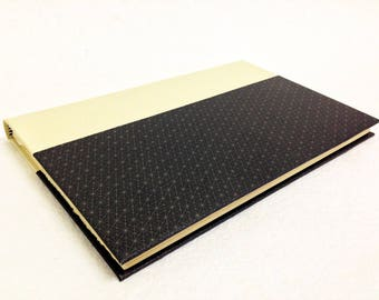Handmade Journal with Black and Gray Geometric Pattern
