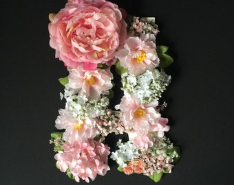 FLORAL Wooden Letter, Chic Decor, Cute Letter A