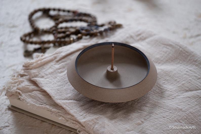 AUTUMN Incense holder  Zen Art Minimal Incense Burner  image 0