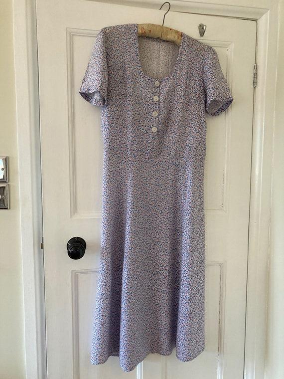1930s ditsy print dress