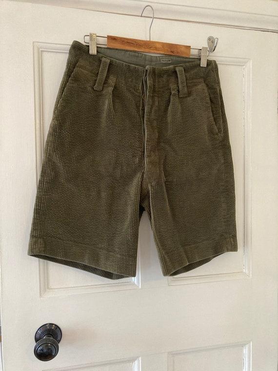 1950s khaki corduroy shorts