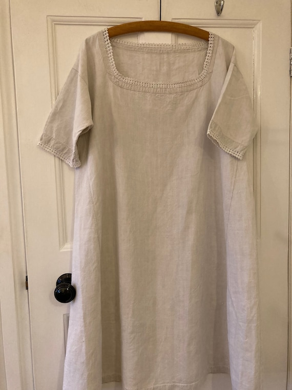 1910s antique French chemise paysanne workwear smo