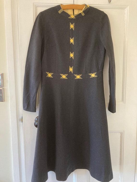1950s grey woollen winter dress