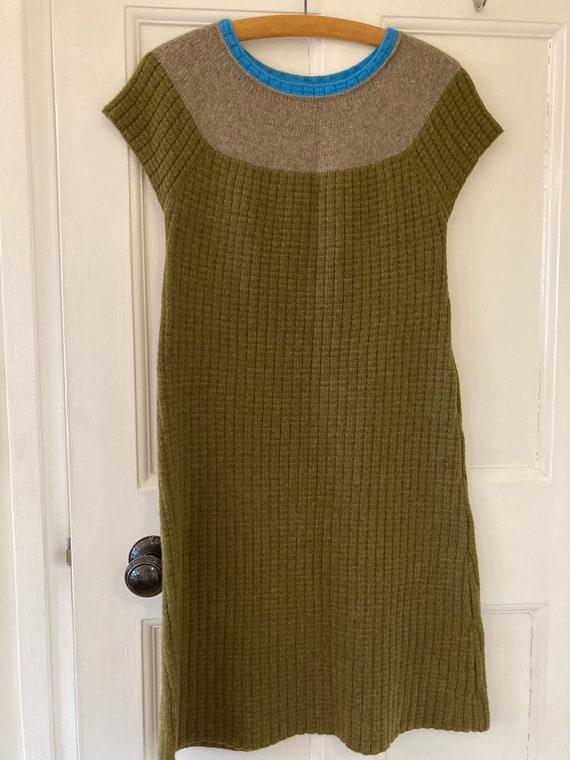 1990s knitted wool sweater dress
