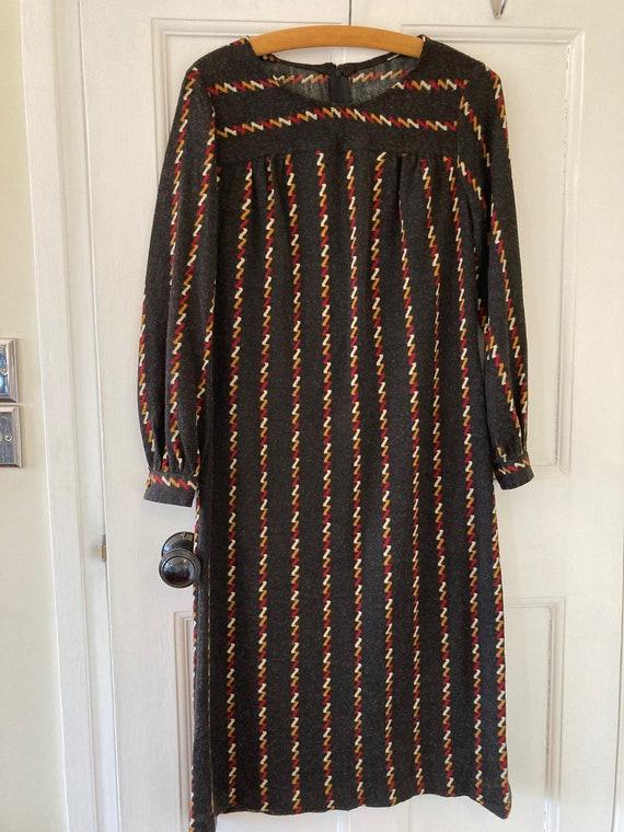 1970s jersey long sleeve dress