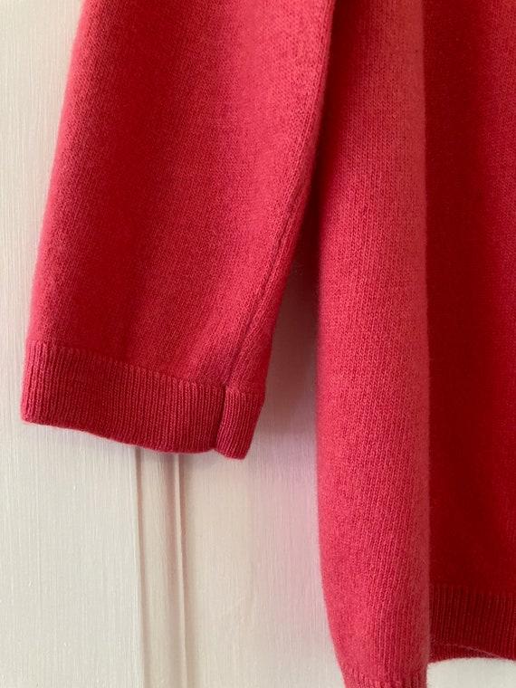 1950s Ballantyne fuchsia pink cashmere cardigan - image 3
