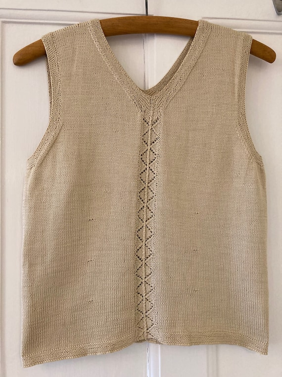 1990s 40s style hand knitted vest top