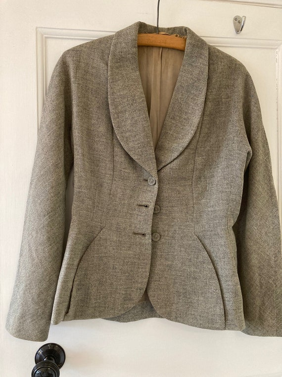 1940s grey tweed jacket