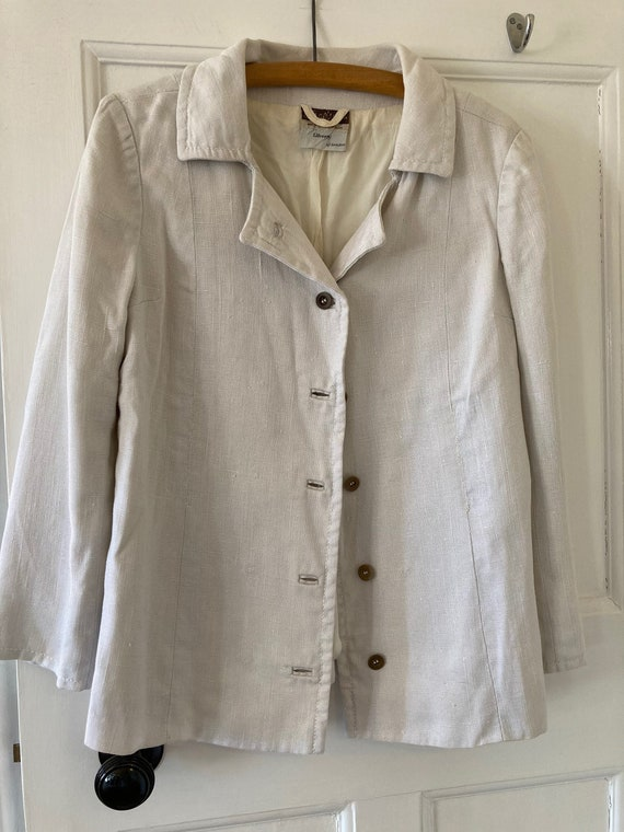 1960s Liberty moygashel linen jacket