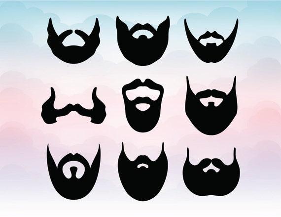 Barba Vectores Caballero Siluetas Svg Pdf Ai Eps Dxf Png