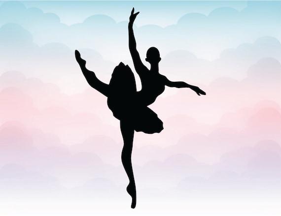 Silueta De Bailarina De Ballet Pdf SVG Ai Dxf Eps Png