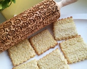 Happy Halloween rolling pin Pumpkin carved embossed rolling Halloween party cookies Gift for halloween Halloween embossed dough roller