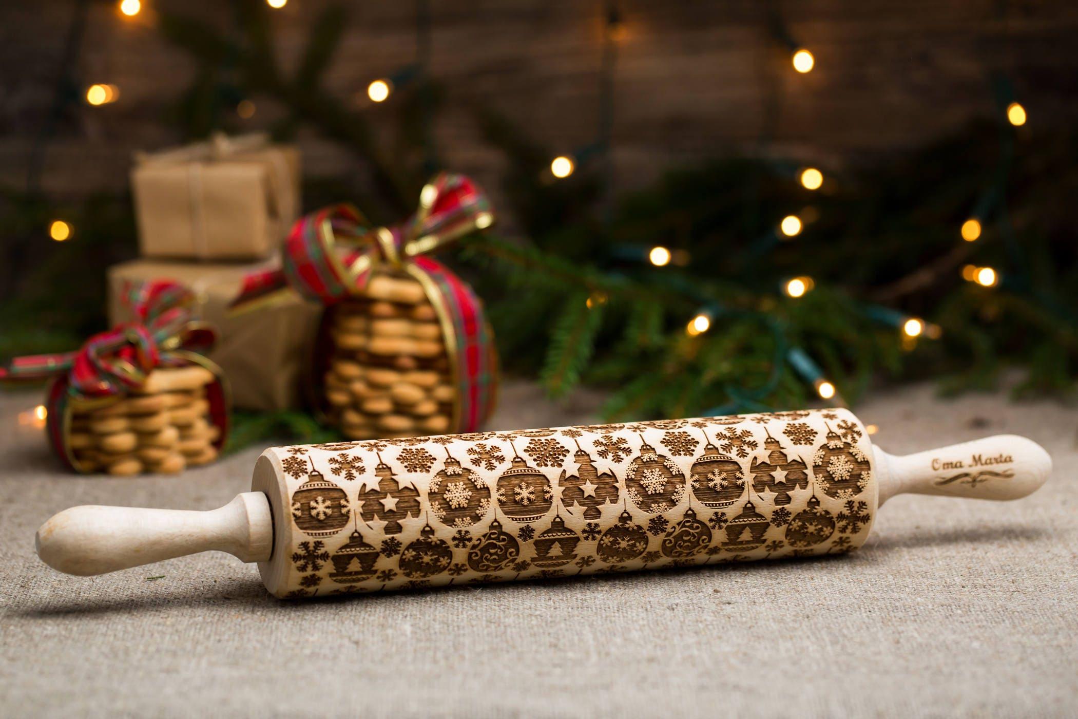 Weihnachten Geschenke graviert Nudelholz geprägtem Nudelholz | Etsy