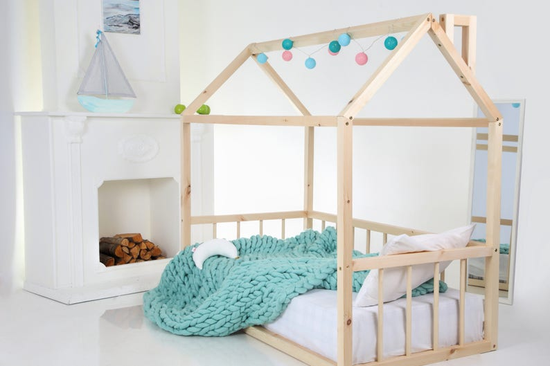 Huis Bed Peuter.Peuter Huis Bed House Bed Montessori Bed Houten Huis Bed Etsy