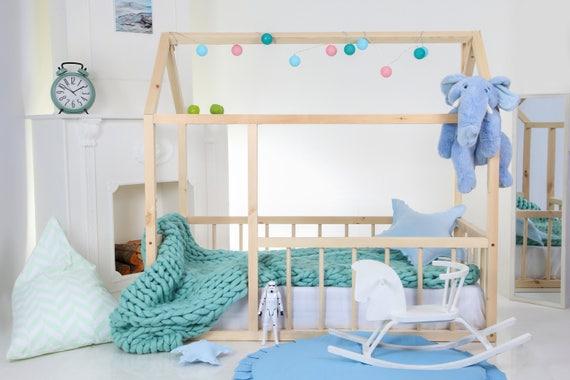Kleinkind Bett Kinder Bett Bett Kinder Tipi Holz Haus Babybett Etsy