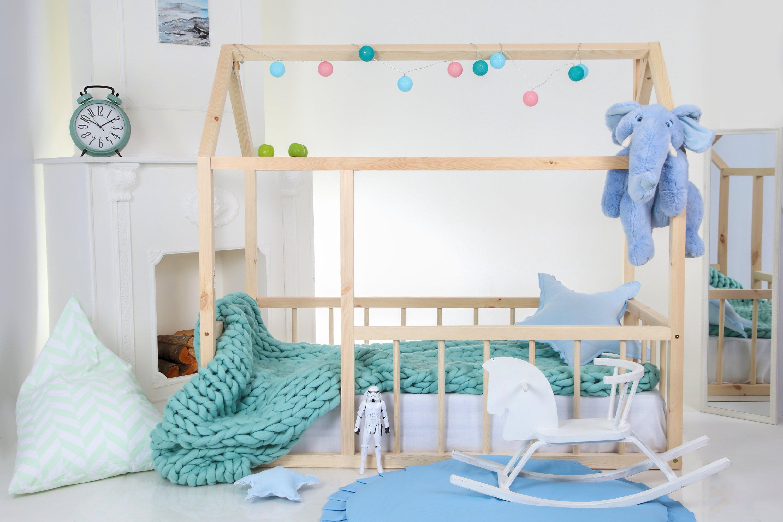 Kleinkind-Bett Kinder Bett Bett Kinder Tipi Holz Haus Babybett