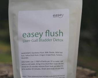 Easey Flush- Liver-Gall Bladder Detox 8oz (dry herbs)