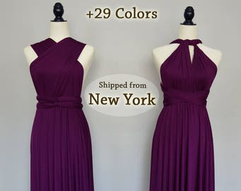 Plum Bridesmaid Dresses, infinity dress, eggplant Evening Dress, convertible dress maternity, bridesmaid gown, party dress Multiway dress