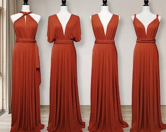 TERRACOTTA Bridesmaid Dress infinity dress Convertible Dress, Multi way Dress, Wrap dress Prom Dress, Maternity Dress Plus size & Petite