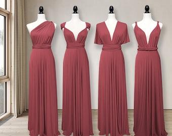 Cinnamon Rose Bridesmaid Dress convertible wrap dress, infinity dress Multi-way Wrap Dress Maternity Dress Party Dress Plus Size & Petite