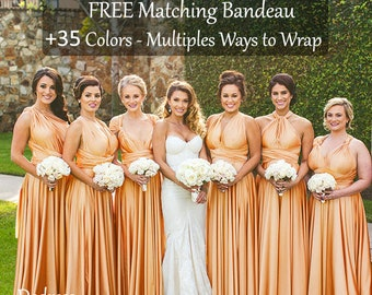 bce1445954d Gold bridesmaid dress