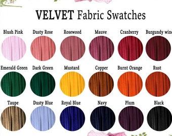 Velvet Fabric Swatches Fabric Sample for Convertible Dress / Infinity Dress/ Multiway Dress/ Multi Wrap Dress / Velvet Fabric