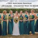 Teal green Wrap dress convertible bridesmaid dresses, infinity dress, sororities dress, infinity dress, prom dress, Ball gown