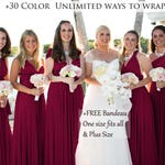 Burgundy Bridesmaid Dress Convertible Dresses Infinity Dress, ball gown, party dress, Coktail Dress, Prom Dress, Maroon Maternity Dress