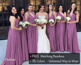f27490e2361 Wisteria Mauve Bridesmaid Dress Convertible Dress
