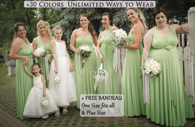 4f2851775b8 Long Sage Green infinity dress Bridesmaid dress prom dress