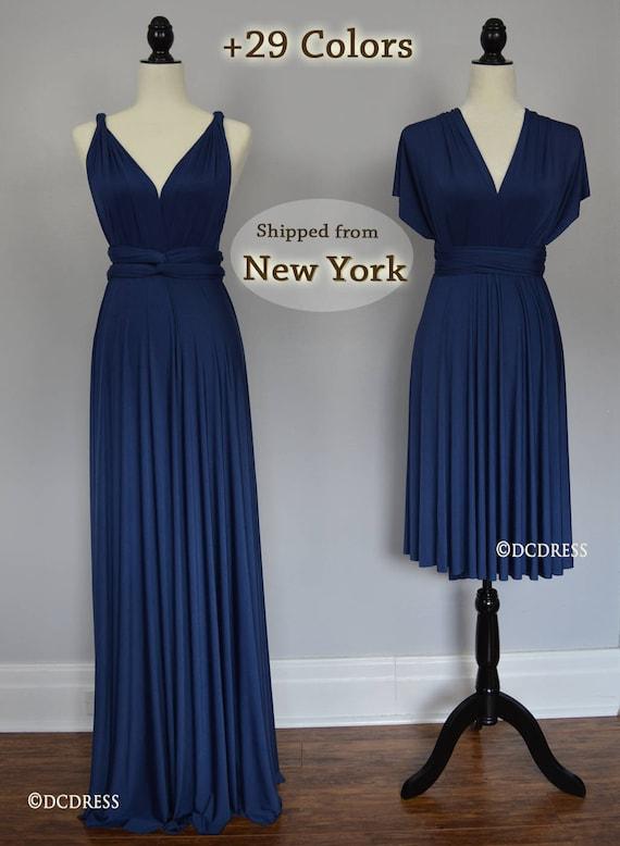 Midnight Blue honeymoon dress infinity dress ball gown   Etsy