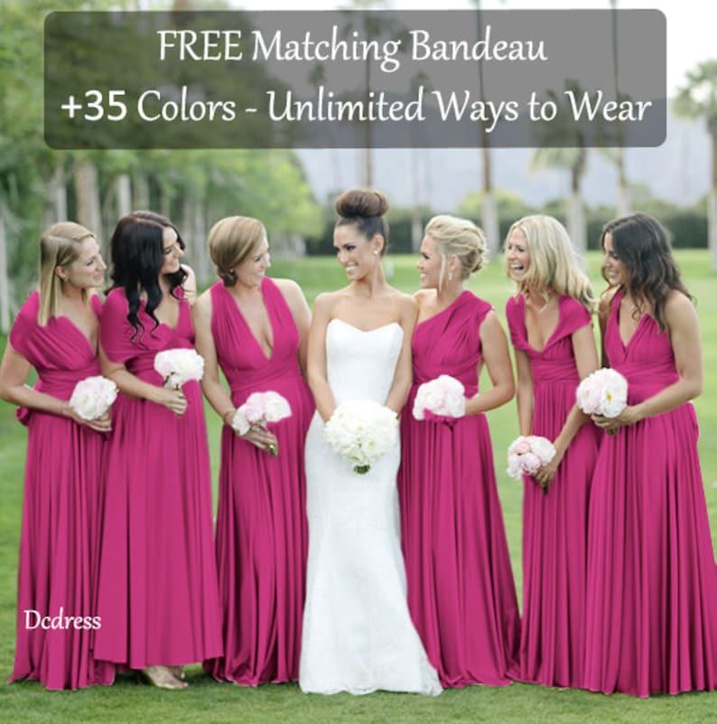3dd7a973cd1 Magenta Bridesmaid Dress Magenta Infinity Dress Convertible