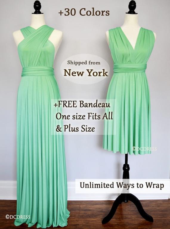 Mint Green Bridesmaid Dresses | Mint Green Bridesmaid Dress Infinity Dress Convertible Etsy