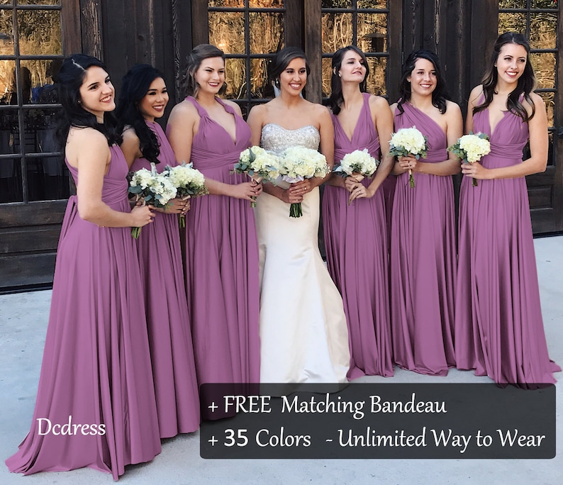 89c4edc154 Wisteria Mauve Bridesmaid Dress Convertible Dress formal