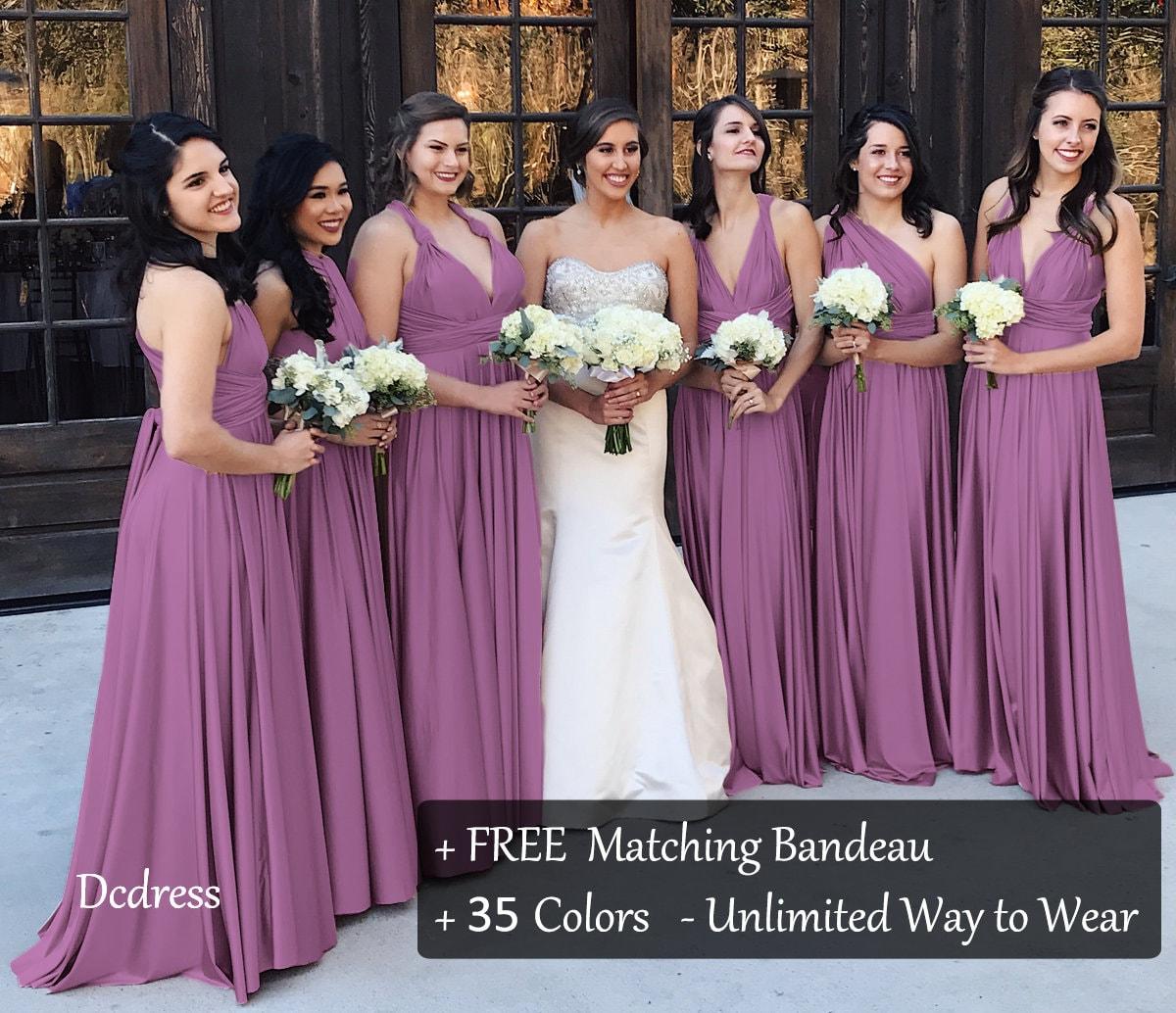 42c1a4aed12 Mauve Long   Short Bridesmaid Dresses   80- 149