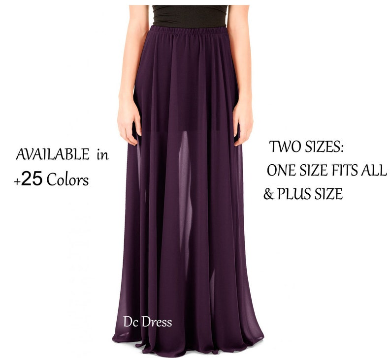 a34851014bf Chiffon Overlay Skirt add on Chiffon Maxi Skirt