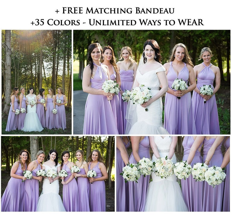 0cdf5dad93a Lilac Bridesmaid dress convertible dresses beach dress