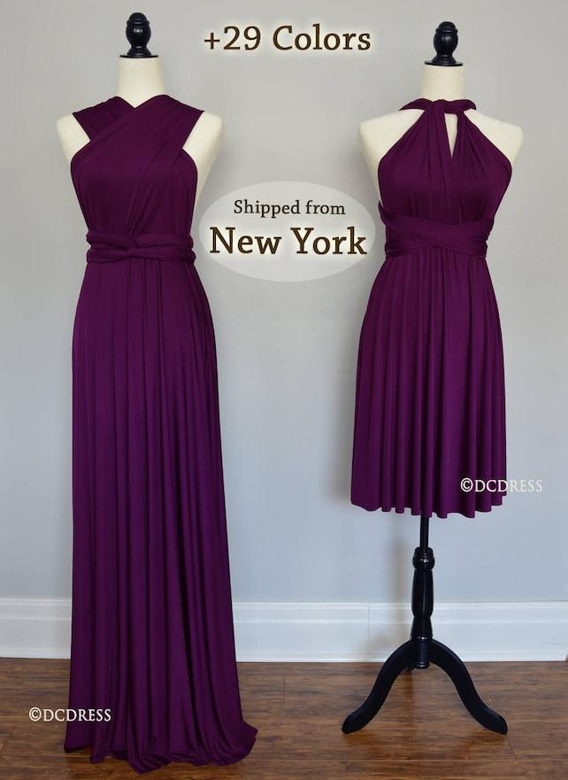 Plum Bridesmaid Dresses Infinity Dress Eggplant Evening Etsy