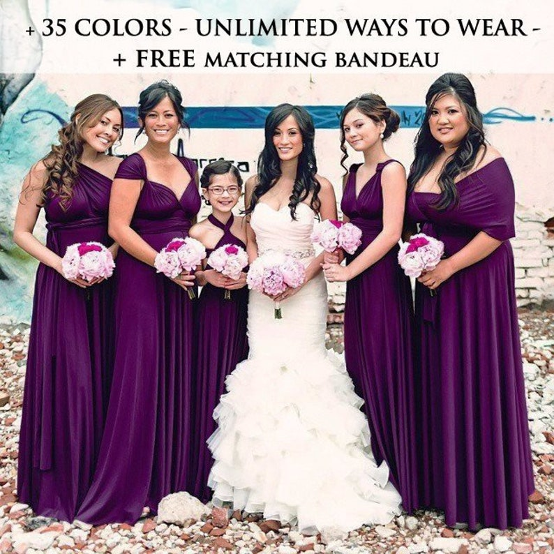 7d502a0f3c Plum Bridesmaid Dresses infinity dress eggplant Evening