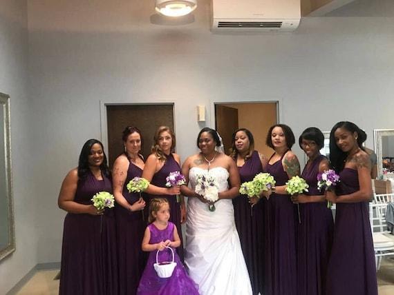 Plus Size Bridesmaid Dress, Plus Size infinity Dress , Plus Size beach  dress, Plus Size Convertible dress, plus size prom