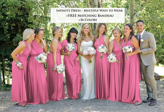 shop for luxury biggest selection entire collection Antique Rose Bridesmaid Dress infinity dress convertible Dress, also  available in Dusty Rose Bridesmaid Dress Multiway dress multiwrap
