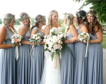 Dusty Blue Bridesmaid Dress infinity dress Periwinkle convertible Infinity Dress Dusty Blue Prom Dresses Maternity Dress Plus Size & Regular