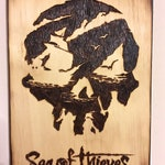 Sea of Thieves woodburning art, woodburned game art, wall hanging sign, pirate art, home decor, gamer art, pirate room decor, nautical theme